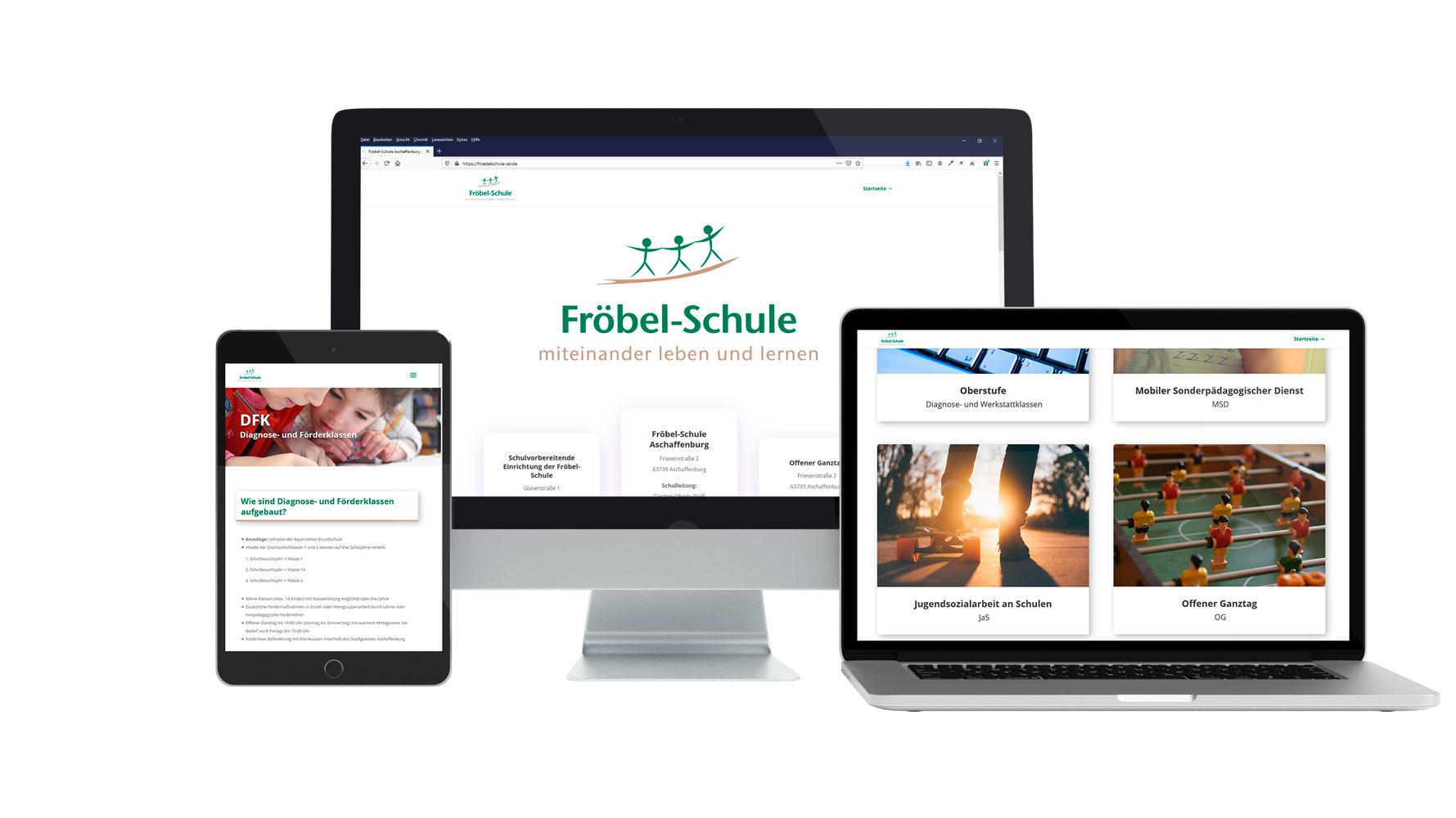 Website Froebel-Schule Aschaffenburg