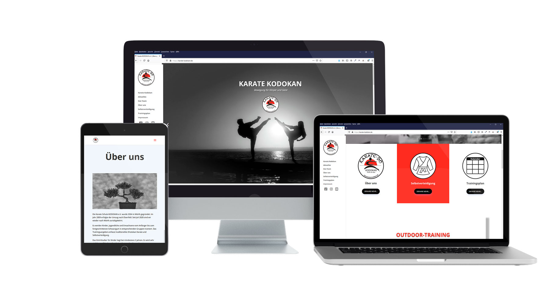 Website Karate Kodokan Wörth am Main